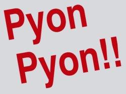 画像2: We Say Pyon Pyon!! Tシャツ グレー×ブラック