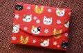 ティッシュケース猫・赤