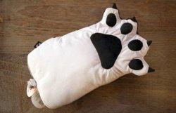 画像1: 猫の手ティッシュカバー グレー