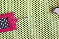 画像3: 蓄光リール付パスケース レッド